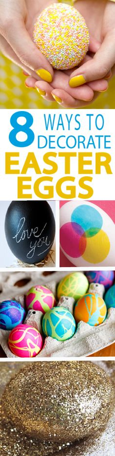 Check out these 8 tutorials that break away from the traditional vinegar dye, yet still decorate Easter eggs in easy, and even cleaner ways!