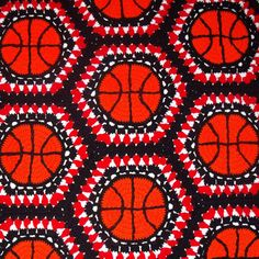 Basketball Block Afghan Pattern - Crochet Maybe one day I'll learn to crochet like this.