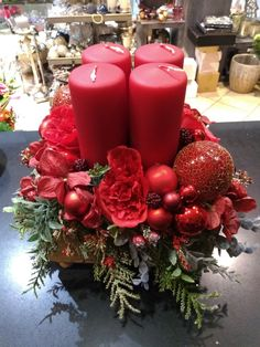 Pillar Candles, Advent, Christmas Wreaths, Holiday Decor, Home Decor, Christmas Jewelry, Crafting, Decoration Home, Room Decor