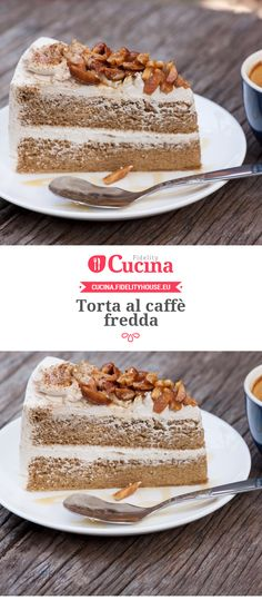 Torta al caffè fredda Different Cakes, Italian Desserts, Sweet And Salty, Something Sweet, Gelato, Afternoon Tea, Ricotta, Vanilla Cake, Latte