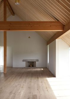 Ryan W. Kennihan - Bealalaw House, Carlow 2015. pick out beams other than rafters in different colour to strengthen