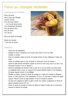 Petits pains au chocolat feuilletés - Doulou Cooky