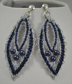 Lace Earrings, Lace Jewelry, Jewelery, Drop Earrings, Bobbin Lace Patterns, Bead Loom Patterns, Hairpin Lace Crochet, Crochet Edgings, Crochet Motif