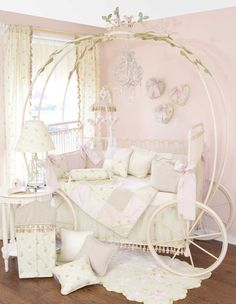 Cinderella carriage bed....how cute is this?