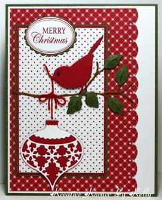Christmas card … Memory Box die cuts … luv the details of the die cuts … c… – Christmas DIY Holiday Cards Homemade Christmas Cards, Christmas Cards To Make, Xmas Cards, Homemade Cards, Holiday Cards, Cards Diy, Christmas Bird, Handmade Christmas, Christmas Greetings