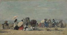 Eugène Boudin - Scène de plage, Trouville (1873)