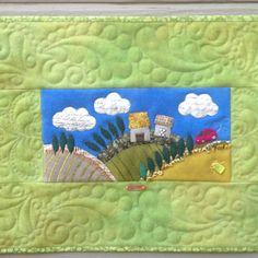 Chris Manning Designed Pieced Textile - Sue Spargo Workshop - Orvieto, Italy - Quilted by Sue McCarty.