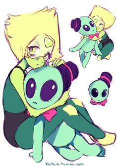 aliens, peridot, and cute image