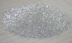 Pure Genuine German super fine silver Glass Glitter 100 grit