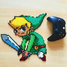 LoZ The Wind Waker - Link perler beads by rachrafferty