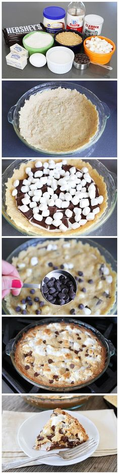 I have recently rediscovered my long lost love for s'mores and I am so obsessed with the flavor... check this out!... S'mores Pie!