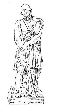 Unknown artist odysseus feigns madness tags trojan war for Odysseus coloring pages