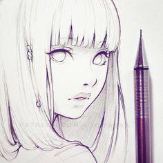 Anime girl sketch art inspo, sketch art, girl sketch, anime sketch, drawing s Art Manga, Art Anime, Manga Drawing, Drawing Sketches, Sketch Drawing, Manga Anime, Cartoon Drawings, Pencil Drawings, Art Drawings