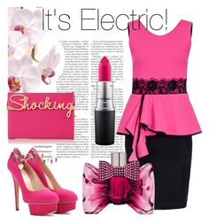 """""""Shocking Pink!"""" by pixidreams ❤ liked on Polyvore featuring Charlotte Olympia, Viktor & Rolf and MAC Cosmetics"""
