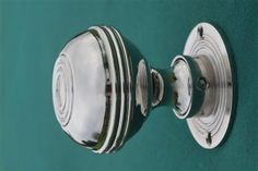 Buy Bloxwich Georgian Nickel Door Knobs - One of our most popular door knobs. This Georgian door knob is turned in solid brass and nickel plated and is a replica of an original. Available in 2 sizes and in matching cupboard knobs. www.priorsrec.co.uk