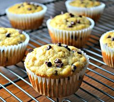Chocolate Chip banana breakfast muffins mad with whole grains.
