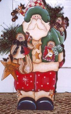 Gingerbread Wishes Santa's-gingerbread wishes, santa, wood kits, wood blanks, tole painting, decorative painting, karen wisner
