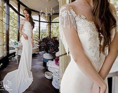 Wedding dress Serena unique wedding dress lace by DressesLioness