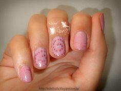 Reto puntos ~Espiral~ Swirl nail Rose nail