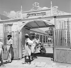 A view Public Market in Charlotte Amalie, St. Thomas, US Virgin Islands.