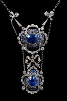 Sapphire and Diamonds necklace