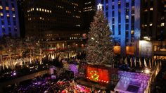 The bedazzled Rockefeller Christmas Tree in New York City is draped with 5 miles of LED lights and topped with a sparkling Swarovski crystal star.