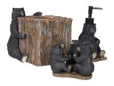 Avanti Black Bear Lodge 3-Piece Bath Accessory Set