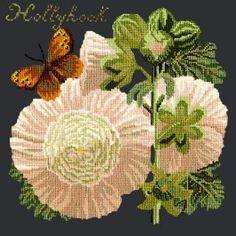 Hollyhock needlepoint