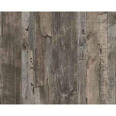 Vliestapete, Livingwalls, »Mustertapete Decoworld in Vintage-Holzoptik«