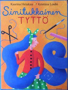Sinitukkainen tyttö - Iltasatu Dinosaur Stuffed Animal, Christmas Ornaments, Logos, Holiday Decor, Animals, Gardening, Animaux, Logo, Lawn And Garden