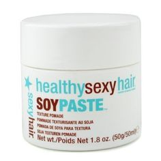 Healthy Sexy Hair Soy Paste - Sexy Hair Concepts - Healthy Sexy Hair - Hair Care - 50ml/1.8oz by Sexy Hair Concepts. $11.22. This paste helps separate, define & sculpt desired hair style Formulated with soy protein for conditioning benefit Soy gives strength & replenishes moisture Leaves hair appear shiny & healthy To use: Apply on dry hair - Sexy Hair Concepts - Healthy Sexy Hair - Hair Care. Save 51% Off!