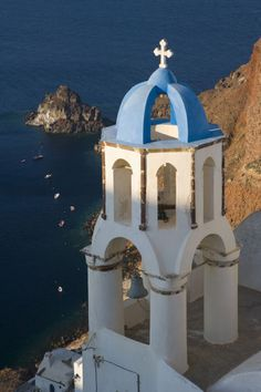 Church in Oia village, Santorini http://www.greece-travel-secrets.com/Santorini.html