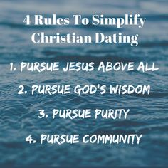 what are the four dating rules
