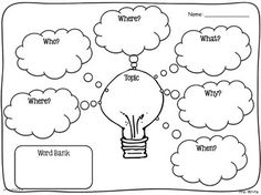 A writing template to help children when structuring text