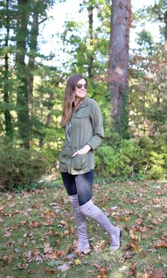 Sometimes the unexpected is the boldest way to go, like pairing over the knee boots with dark skinny jeans instead of a dress! Plus, if you're nervous to wear them bare-legged, this is a great way to feel confident! @DSWshoelovers has fun boots for any style, size, or age, so don't feel like you can't wear a certain trend. I got these without a heel to balance the look! #sponsored #MyDSW