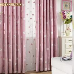 Curtains, Bed, Color, Home Decor, Kid Bedrooms, Pink Curtains, Windows, Home Decoration, Insulated Curtains