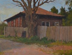 """""""The Brown House"""" Beth Marchant 11"""" x 14"""" Oil #art #artwork #paint #artist #painting #fineart #oil #oilpainting #braziergallery #bethmarchant #brown #house #virginia #localart"""