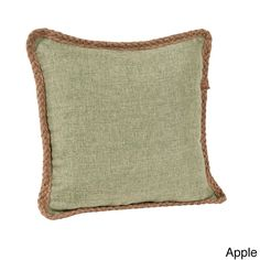 Dress up any room in contemporary style with this decorative pillow. This jute braid design pillow is perfect for everyday home decor. Pillow inserts included.