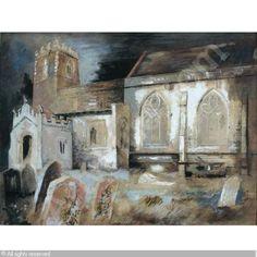 John Piper, Cotterstock Church (Northamptonshire, E. Midlands, England),