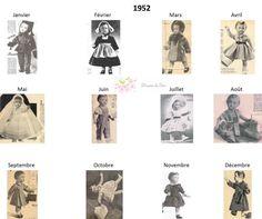 Modes et Travaux - Patrons poupée 1952