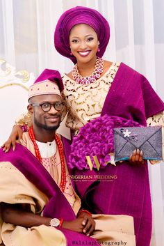 Nigerian Wedding Presents The Stunningly Colourful Wedding Ceremony Pictures of Tomilayo and Ademola Nigerian Wedding Dress, African Wedding Attire, Nigerian Bride, Nigerian Weddings, African Attire, African Wear, African Dress, African Fashion, African Outfits