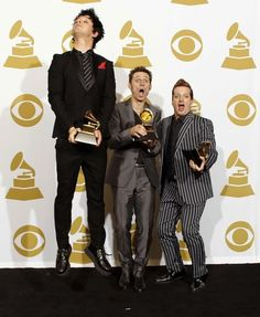 Greenday at the 2010 Grammys