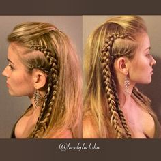 """It's @historyvikings Thursday!! I thought to do a Lagertha @katherynwinnick inspired hairdo! She is my favorite character, an inspiration for strong women…"""