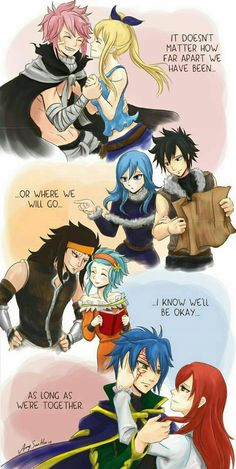 These are all my favorite Fairy Tail ships