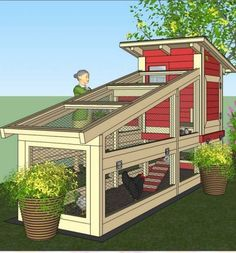 I'm getting the idea that ANY chicken coop design, with minor modifications, would make a great Outdoor Kitty Play house!Top 10 simple,cheap and easy chicken coop plans for backyard chickens.