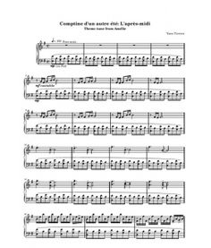 Comptine d'un autre ete: l'apres midi by Yann Tiersen. Sheet music sample from http://www.scribd.com/users/30183056/events