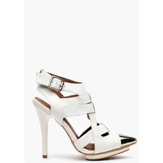 Don't Even Platform - White Leather ($145) found on Polyvore