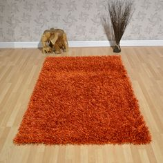 Lounge Collection Beat Shaggy Rugs Orange 17