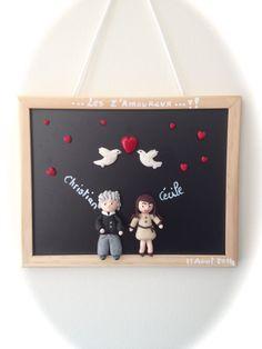 Cadre personnalisé, rigolo, un cadeau original pour la Saint-Valentin : Décorations murales par creations-soso