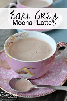 """I enjoy a good cup of coffee. But sometimes I crave a cup of tea. Not just any tea, but Delicious Earl Grey Mocha """"Latte"""". Yummy Drinks, Healthy Drinks, Yummy Food, Chocolate Caliente, Hot Chocolate, Chocolate Latte Recipe, Cafe Mocha Recipe, Coffee Drinks, Cup Of Coffee"""